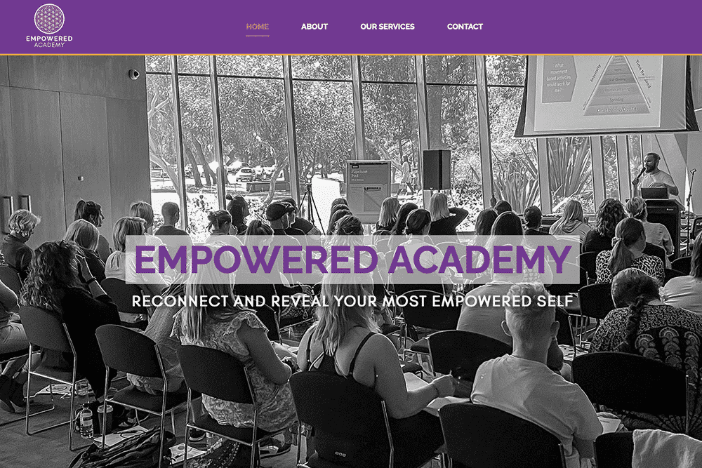 website empowered academy preview